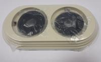 Bironi Рамка 2-х постовая пластик, слоновая кость BF1-620-211