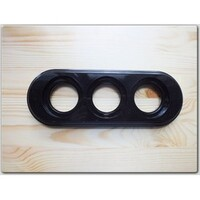 Bironi Рамка 3-х постовая пластик черный BF1-630-23