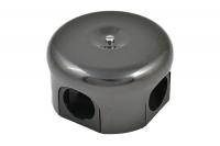Bironi Распределительная коробка 78мм керамика черный В1-521-03