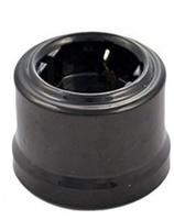 Bironi Розетка с заземлением пластик черный В1-101-23