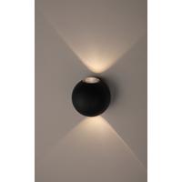 Декоративная подсветка светодиодная 2*1Вт IP54 черный WL11 BK