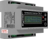 DigiTOP терморегулятор ТК-7, DIN (трехканальный с недельным программатором, цифровой датчик DS18B20)
