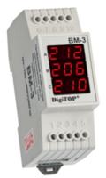 DigiTOP вольтметр действующего значения переменного тока Вм-3 трехфазный (red,green,color,blue,white)