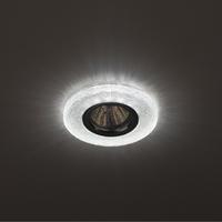 DK LD1 WH Светильник ЭРА декор cо светодиодной подсветкой (3W), прозрачный (50/1400)