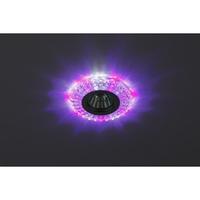 DK LD2 SL/WH+PU Светильник ЭРА декор cо светодиодной подсветкой( белый+фиолетовый) (3W), прозрачный