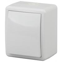 Эксперт Блок выключатель 1кл с подсветкой белый IP54 11-1402-01
