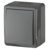 Эксперт Блок выключатель 1кл с подсветкой черный IP54 11-1402-03