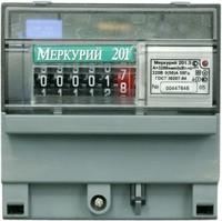 Электросчетчик Меркурий 201.5 5-60А 220В с креплением на динрейку