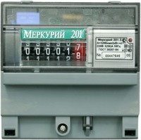 Электросчетчик МЕРКУРИЙ 201.5 230V 60A однотарифный однофазный