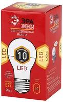 ЭРА лампа светодиодная A60-10W-827-E27 ECO 2700К