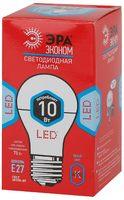 ЭРА лампа светодиодная A60-10W-840-E27 ECO 4000К
