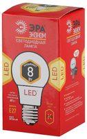 ЭРА лампа светодиодная A60-8W-827-E27 ECO 2700К