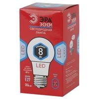 ЭРА лампа светодиодная A60-8W-840-E27 ECO 4000К
