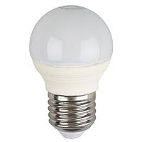 ЭРА лампа светодиодная шарик Р45 5W Е-27 теплый 827