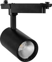 Feron AL102 светильник трековый светодиодный на шинопровод 12W, 1080Lm, 4000K, угол освещения 35°, черный 29647