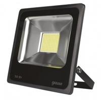 Gauss прожектор светодиодный 50W IP65 6500К черный 613100350