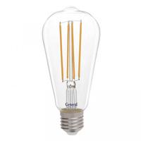 GENERAL лампа светодиодная декоративная GLDEN-ST64S-10-230-E27-4500 655305