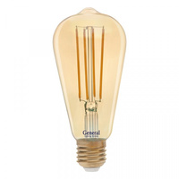 GENERAL лампа светодиодная декоративная GLDEN-ST64S-13-230-E27-2700 Золотая 655303