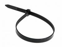 Хомут нейлоновый (стяжка кабельная) 300x7,6мм 100шт чёрный