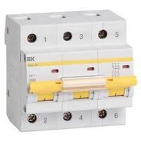 iEK Автоматический выключатель ВА47-100 3П 25А хар-ка С MVA40-3-25-C