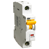 iEK Автоматический выключатель ВА47-60 1П 25А хар-ка С MVA41-1-025-C