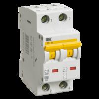 iEK Автоматический выключатель ВА47-60 2П 16А хар-ка С MVA41-2-016-C