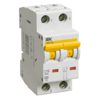 iEK Автоматический выключатель ВА47-60 2П 32А хар-ка С MVA41-2-032-C