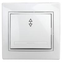 Intro Plano Выключатель 1кл проходной белый 1-103-01