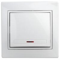 Intro Plano Выключатель 1кл с подсветкой белый 1-102-01