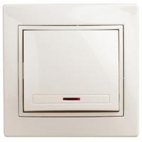Intro Plano Выключатель 1кл с подсветкой крем 1-102-02