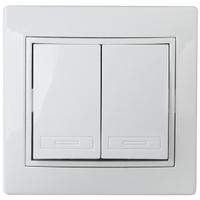 Intro Plano Выключатель 2кл белый 1-104-01