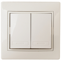 Intro Plano Выключатель 2кл крем 1-104-02
