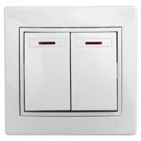 Intro Plano Выключатель 2кл с подсветкой белый 1-105-01