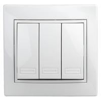 Intro Plano Выключатель 3кл белый 1-106-01