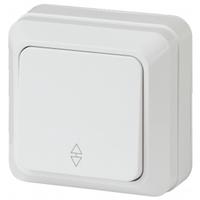 Intro Quadro Выключатель 1кл проходной белый 2-103-01