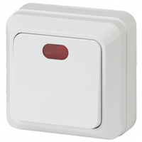 Intro Quadro Выключатель 1кл с подсветкой белый 2-102-01