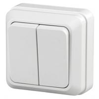 Intro Quadro Выключатель 2кл белый 2-104-01