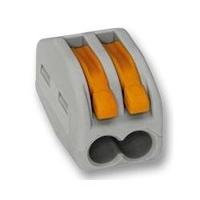 Клемма 2-я с рычагами для монтажа провода, аналог WAGO 222-412