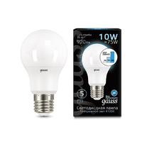 Лампа Gauss LED A60 10W E27 920lm 4100K step dimmable 102502210-S