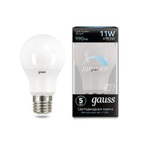 Лампа Gauss LED A60-dim E27 11W 990lm 4100К диммируемая 102502211-D