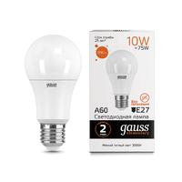 Лампа Gauss LED Elementary A60 10W E27 880lm 3000K 23210