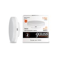 Лампа Gauss LED Elementary GX53 11W 810lm 3000K 83811