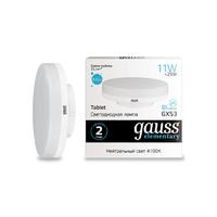 Лампа Gauss LED Elementary GX53 11W 830lm 4100K 83821