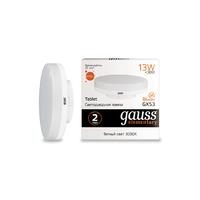 Лампа Gauss LED Elementary GX53 13W 890lm 3000K 83813