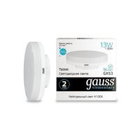 Лампа Gauss LED Elementary GX53 13W 920lm 4100K 83823