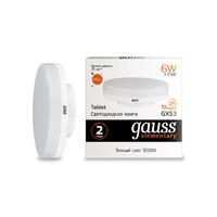 Лампа Gauss LED Elementary GX53 6W 440lm 2700K 83816