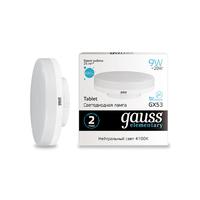 Лампа Gauss LED Elementary GX53 9W 680lm 4100K 83829