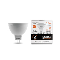 Лампа Gauss LED Elementary MR16 GU5.3 3.5W 290lm 3000K 13514