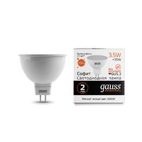 Лампа Gauss LED Elementary MR16 GU5.3 3.5W 290lm 3000K 13514
