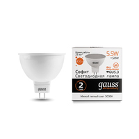 Лампа Gauss LED Elementary MR16 GU5.3 5.5W 430lm 3000К 13516